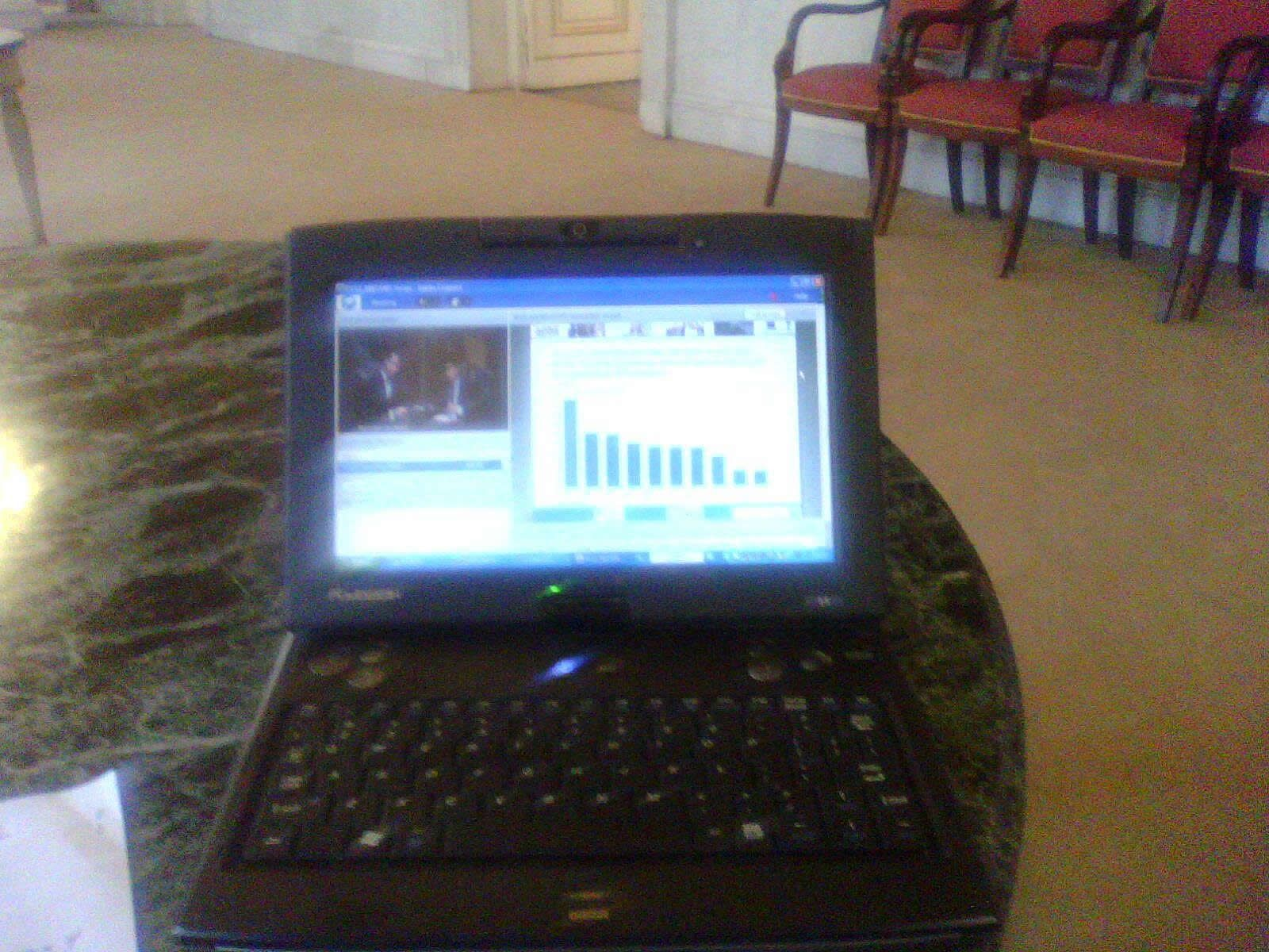 ICT progress: participating the webcast on European labour market perspectives during the symposium